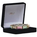 Herend 10 Link Bracelet Lime Pink and Gold