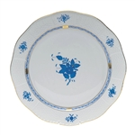 Herend Chinese Bouquet Blue Round Platter