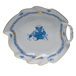 Herend Chinese Bouquet Blue Leaf Dish
