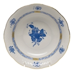 Herend Chinese Bouquet Blue Oatmeal Bowl