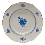 Herend Chinese Bouquet Blue Rim Soup Plate