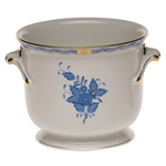 Herend Chinese Bouquet Blue Cachepot