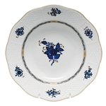 Herend Chinese Bouquet Black Sapphire Rim Soup Plate