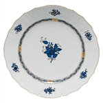 Herend Chinese Bouquet Black Sapphire Service Plate