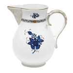 Herend Chinese Bouquet Black Sapphire Pitcher