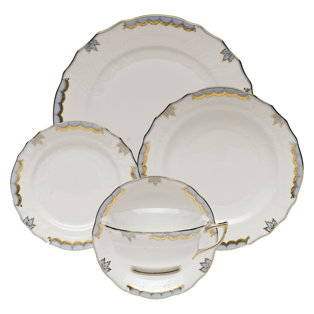 sc 1 st  Herendstore.com & Herend Princess Victoria Light Blue Five Piece Place Setting