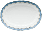 Herend Fish Scale Blue Border Platter