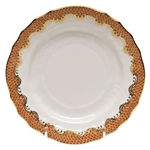 Herend Fish Scale Rust Bread and Butter Plate