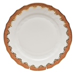 Herend Fish Scale Rust Dinner Plate