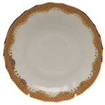 Herend Fish Scale Rust Canton Saucer