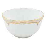 Herend Simply Elegance Gold Round Serving Bowl