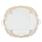 Herend Simply Elegance Gold Square Cake Plate