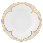 Herend Simply Elegance Gold Rim Soup Plate