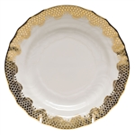 Herend Fish Scale Gold Bread and Butter Plate