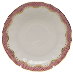 Herend Fish Scale Raspberry Canton Saucer