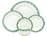 Herend Fish Scale Turquoise Five Piece Place Setting