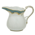 Herend Fish Scale Turquoise Border Creamer