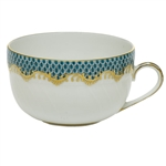 Herend Fish Scale Turquoise Border Canton Cup
