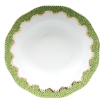 Herend Fish Scale Light Green Border Rim Soup Plate