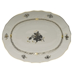 Herend Chinese Bouquet Black Platter