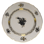 Herend Chinese Bouquet Black Bread & Butter Plate