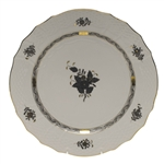 Herend Chinese Bouquet Black Service Plate