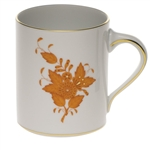 Herend Chinese Bouquet Rust Coffee Mug