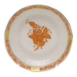 Herend Chinese Bouquet Rust After Dinner Saucer