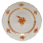 Herend Chinese Bouquet Rust Salad Plate