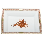 Herend China Jewelry Tray Chinese Bouquet Rust