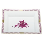 Herend China Jewelry Tray Chinese Bouquet Raspberry
