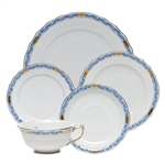 Herend Chinese Bouquet Garland Blue Five Piece Place Setting
