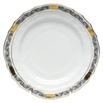 Herend Chinese Bouquet Garland Black Bread & Butter Plate