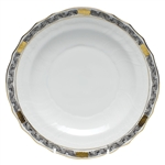 Herend Chinese Bouquet Garland Black Salad Plate