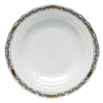 Herend Chinese Bouquet Garland Black Dessert Plate