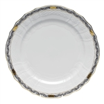 Herend Chinese Bouquet Garland Black Service Plate