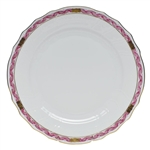 Herend Chinese Bouquet Garland Raspberry Dinner Plate