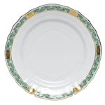 Herend Chinese Bouquet Garland Green Bread and Butter Plate