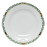 Herend Chinese Bouquet Garland Green Dessert Plate