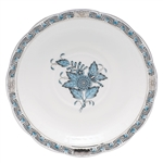 Herend Chinese Bouquet Turquoise and Platinum Tea Saucer