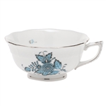 Herend Chinese Bouquet Turquoise and Platinum Tea Cup