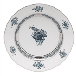 Herend Chinese Bouquet Turquoise and Platinum Bread Plate