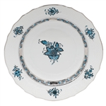 Herend Chinese Bouquet Turquoise and Platinum Salad Plate