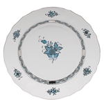 Herend Chinese Bouquet Turquoise and Platinum Dinner Plate