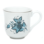 Herend Chinese Bouquet Turquoise and Platinum Mug