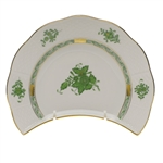 Herend Chinese Bouquet Green Crescent Salad Plate