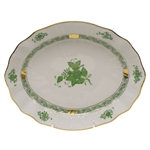 Herend Chinese Bouquet Green Oval Dish