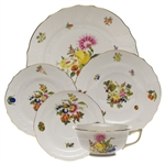 Herend Fruit and Flowers Five Piece Place Setting