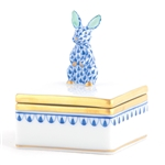 Herend Bunny Box Sapphire Fishnet