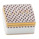 Herend Love Porcelain Box Chocolate Fishnet